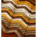 Ripples afghan blanket # 02
