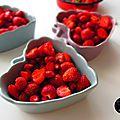 Crumble aux fraises...