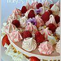 Entremets douceur : fraises framboises