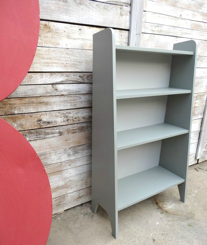 BIbliotheque haute Esprit Vintage gris farrow and ball profil