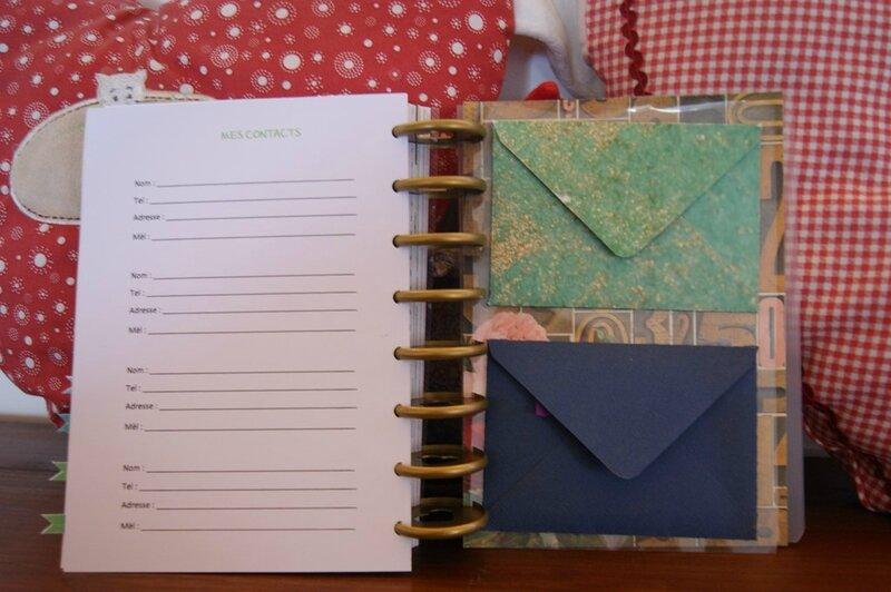Bullet journal enveloppes