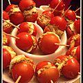 Bouchées tomates tapenade et mozzarella