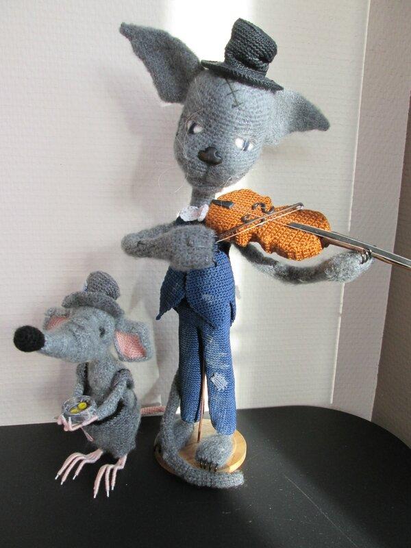 Violoniste et son compagnon de route