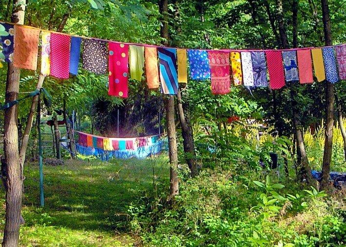 drapeau au camp