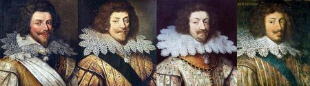Portraits des Grands de France des années 1620 : Guise, Montmorency, Nevers, Soissons