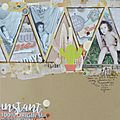 Scrapbooking a4 #230 - inspiration & k+ challenges