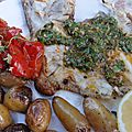 sauce chermoula et turbot au barbecue