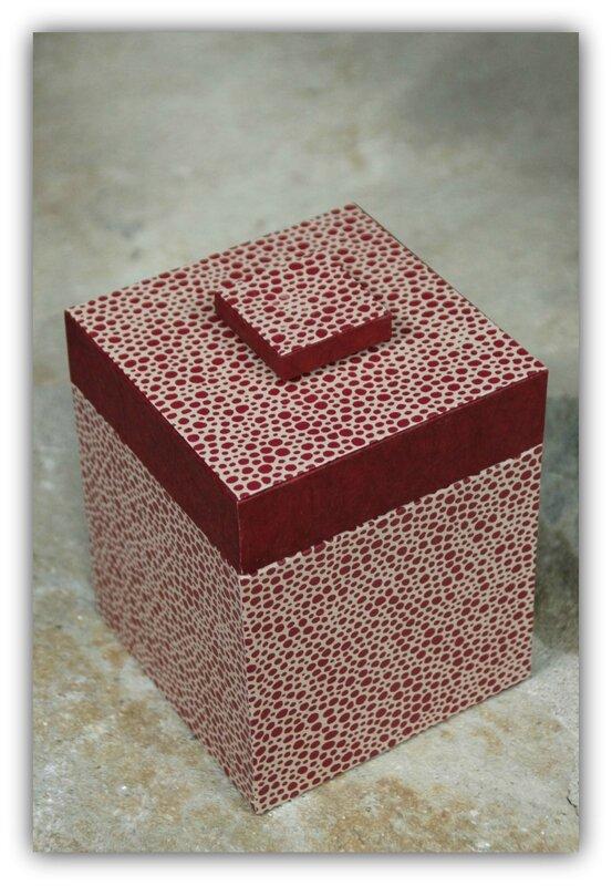 Boîte pois rouge