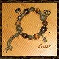 Bracelet GAS oeil de tigre et bronze