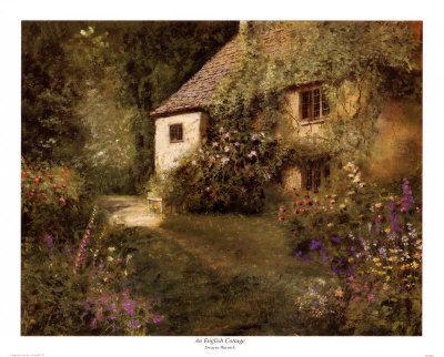 DLW0054~Un-cottage-anglais-Affiches