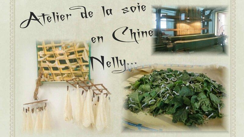 Visite de l'atelier de soie