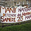 Vire, manif hpitaux 23 mars