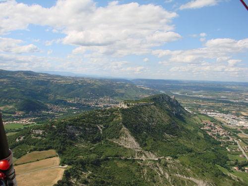 2008 07 07 Vu aérienne depuis l'ULM d'Etoile sur Rhône en direction de Crussol (22)