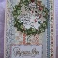 Carte Noël feuilles de houx