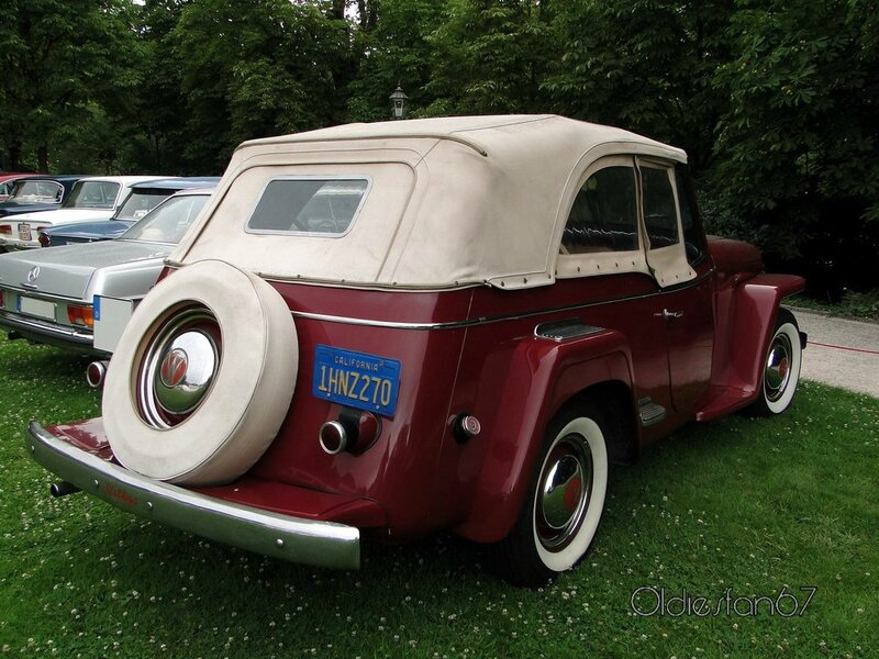 willys jeepster phaeton convertible 1948 d