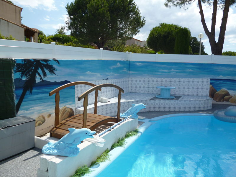 Decoration mur piscine