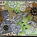 Art journal lettre a/steampunk