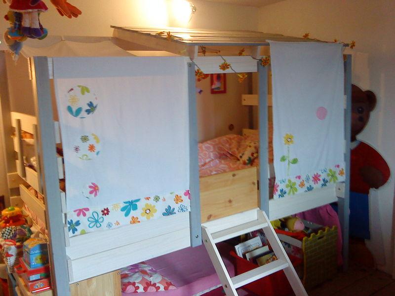 lit cabane tissu. Black Bedroom Furniture Sets. Home Design Ideas