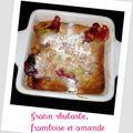 Rhubarbe, framboise et amande ...