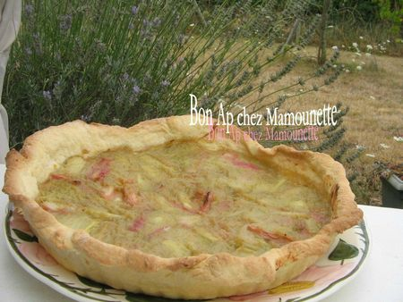 Tarte  la rhubarbe de Bretagne et pte maison 017