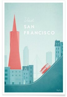 San-Francisco-Henry-Rivers-Affiche-premium-Square