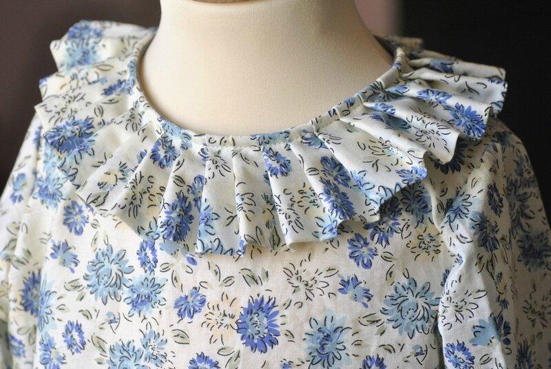 blouse perrette bleue