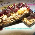 Barres muesli choco-cramberries