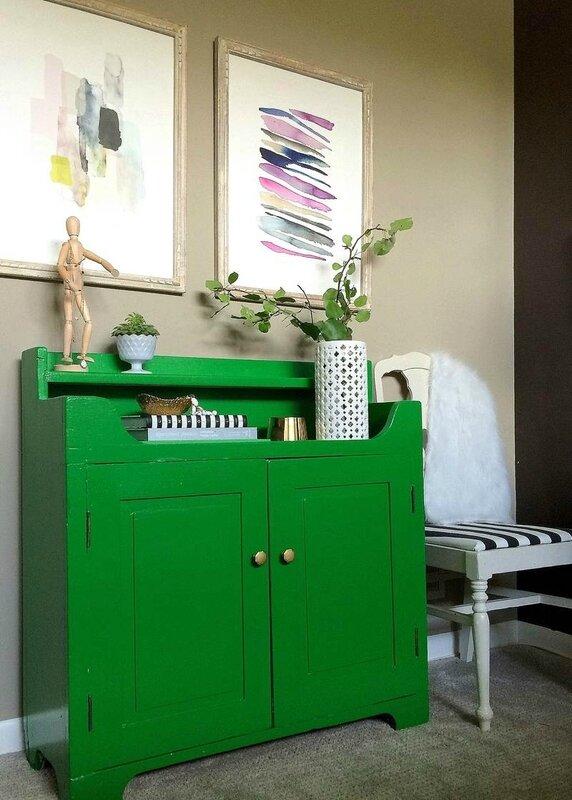 relooker-meuble-ancien-peinture-verte-Jenna-Burger