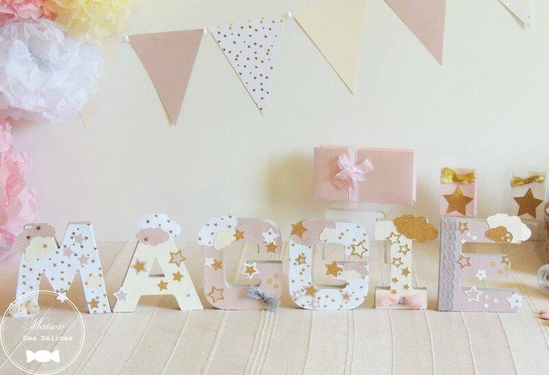 Decoration Presentoire Prenom Table