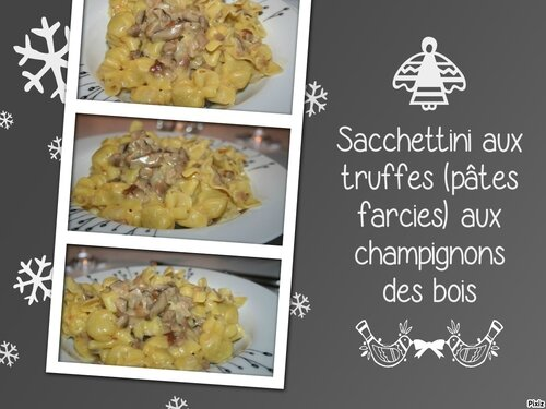 sacchettini aux truffes p tes farcies aux champignons des bois tous en cuisine avec nadine. Black Bedroom Furniture Sets. Home Design Ideas