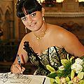 Parure de bijoux mariage en fil doré à l'or fin, collier mariage original ras-de-cou