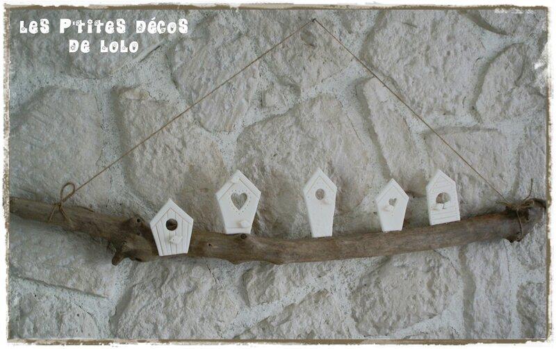 bois flotté et maisons