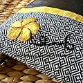 pochette bandoulière style japonais détails 2