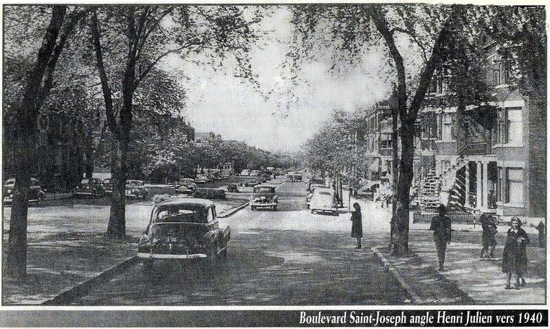 boulevard Saint-Joseph et Henri-Julien vers 1940 copie