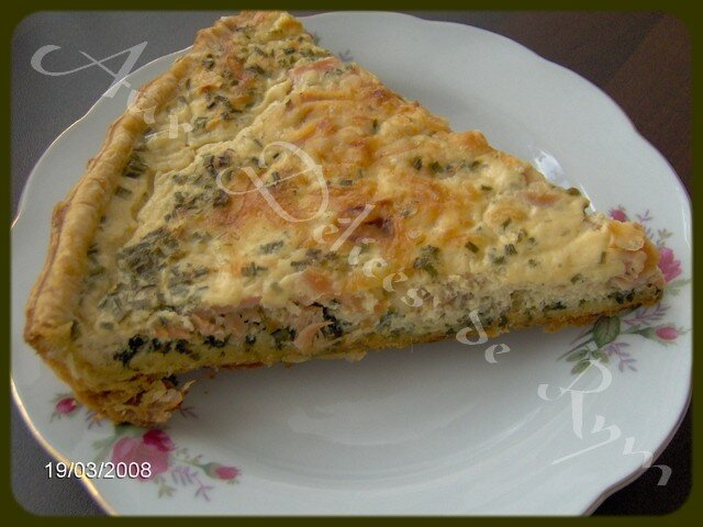 Ma quiche au saumon/épinards