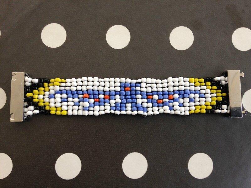 bracelet manchettes perles condor 3