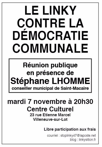 Réunion Stéphane Lhomme