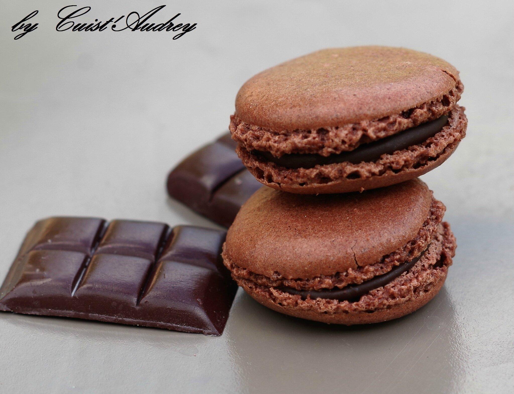 Macarons au chocolat ( selon Christophe FELDER)