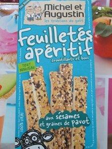 feuilletés apéritif Sésame & pavot Michel & Augustin