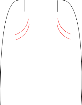 Jupe plis diagonaux