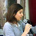 Carole MARTINEZ au café littéraire de Courtenay (Loiret)