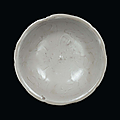 An earthenware qingbai bowl with engraved designs, China, Song Dynasty (960-1279)