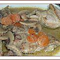 Cuisses de poulet aux champignons et à la moutarde