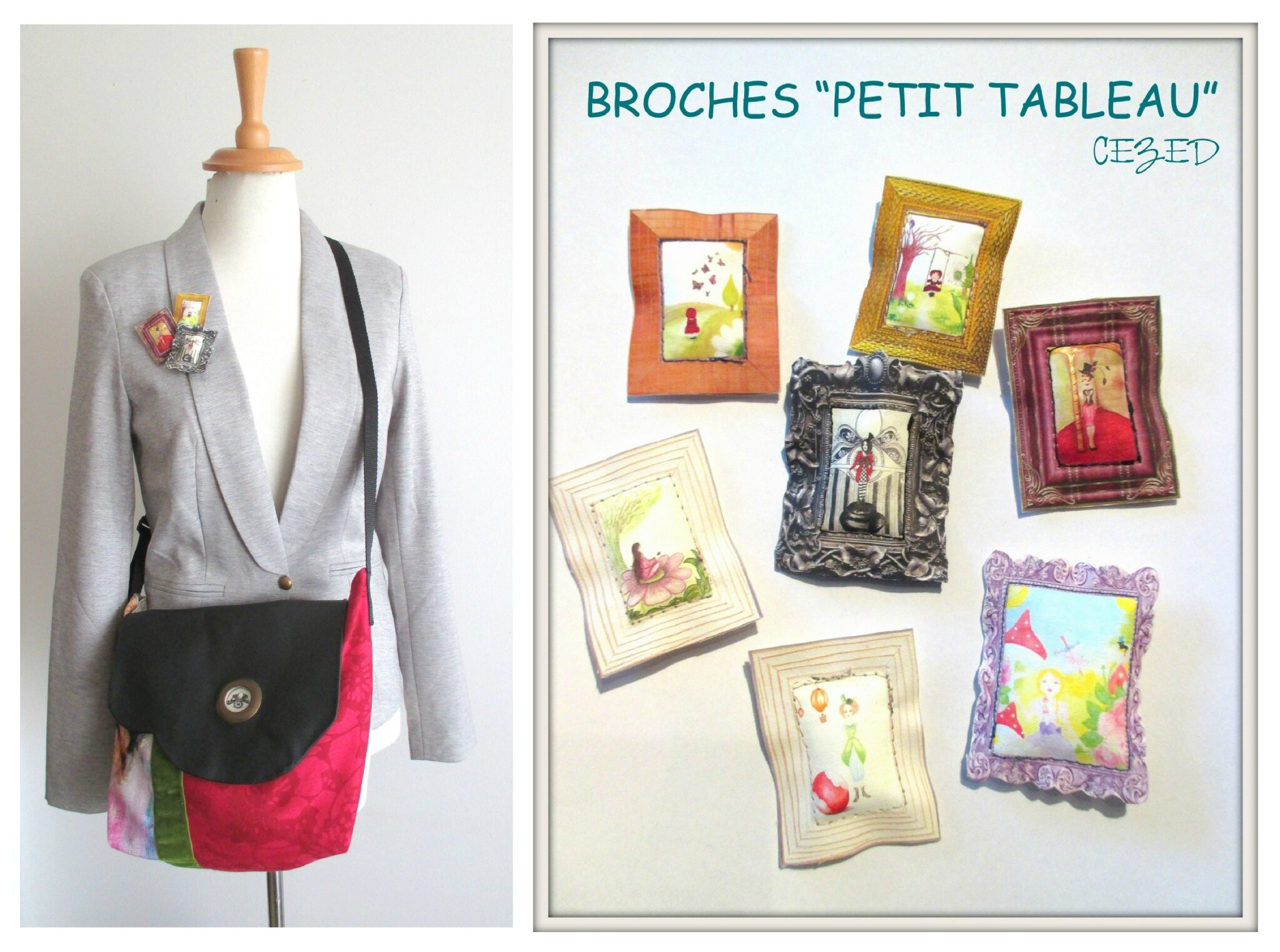 BROCHES PETITS TABLEAUX