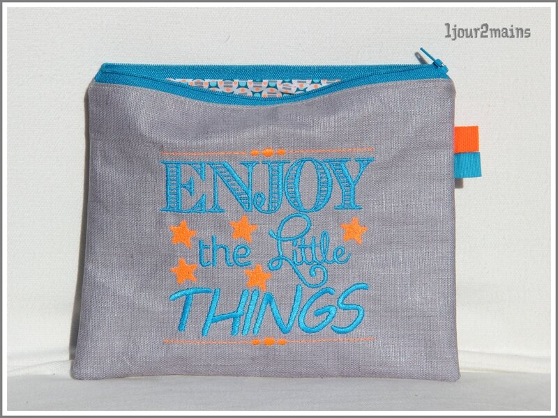 trousse enjoy bleu et orange