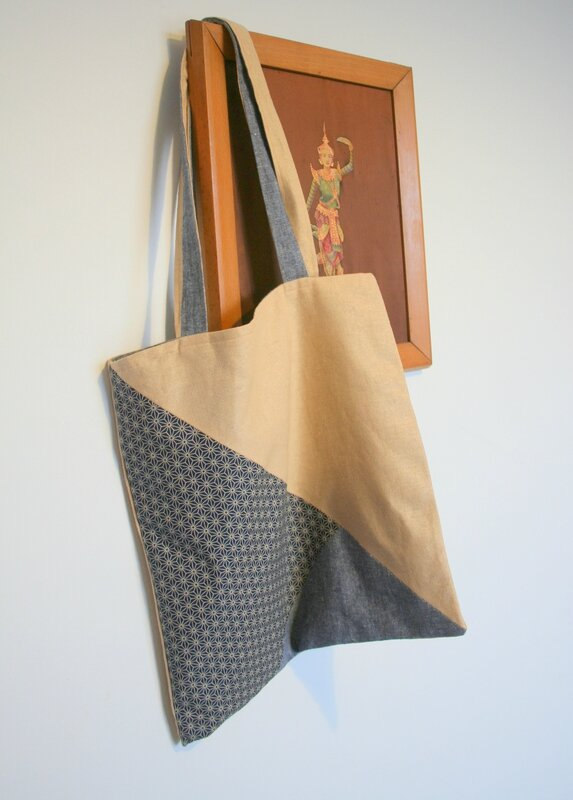 tote bag triangle japonais