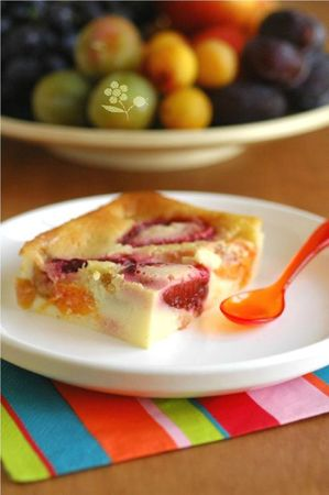 Clafoutis questche, abricot, prune, mirabelle &amp; citron_1