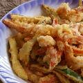 Tempura legumes & crevettes (japon)