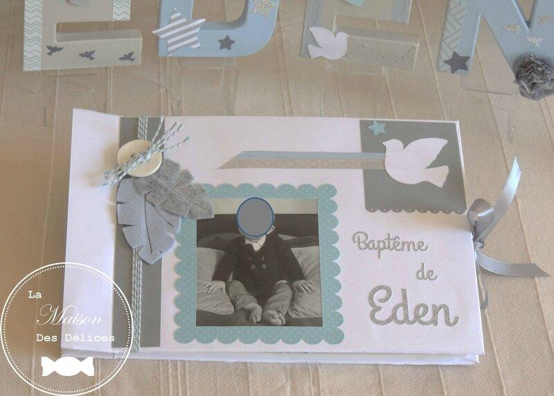 livre dor bapteme baby shower theme etoile oiseau belu pastel blanc gris colombe plume lettre prenom decorees