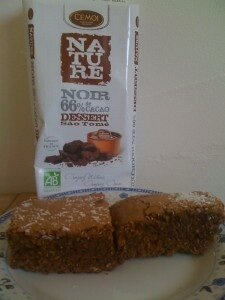 Brownie chocolat noix de coco